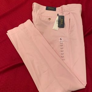 Polo Pink Stretch Slim Fit Chinos